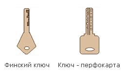 Финский ключ и ключ-перфокарта